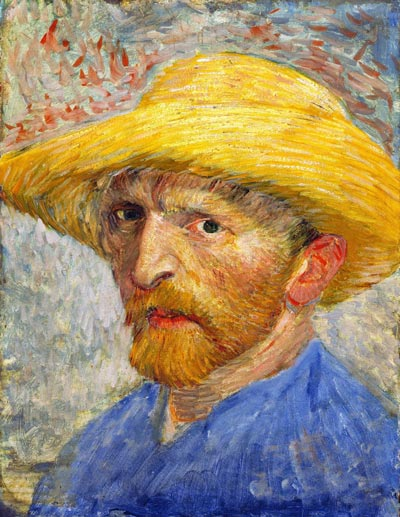 Van Gogh Self-Portrait with Straw Hat 1887-Detroit